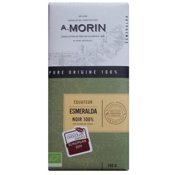 esmeraldas 100% morin ecuador suikervrij keto chocolade awards biologisch
