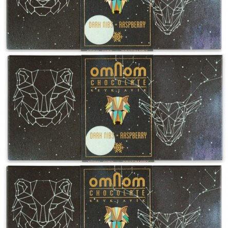 Omnom – Dark Nibs + Framboos (Winter Limited)