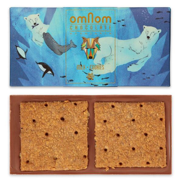 omnom milk cookies melkchocolade met koekjes winter special edition