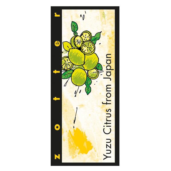 yuzu gevulde chocolade van zotter een met yuzufruit citrus gevulde chocoladereep biologisch fair