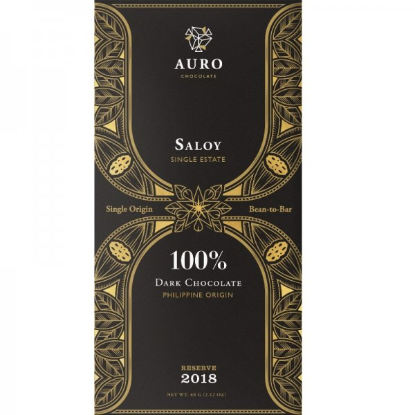 auro saloy 100% cocoa chocolate from the philippines tree to bar