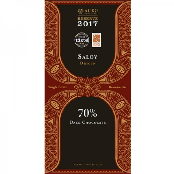 auro saloy philippines single estate chocolate reserve 2018 bean to bar single origin
