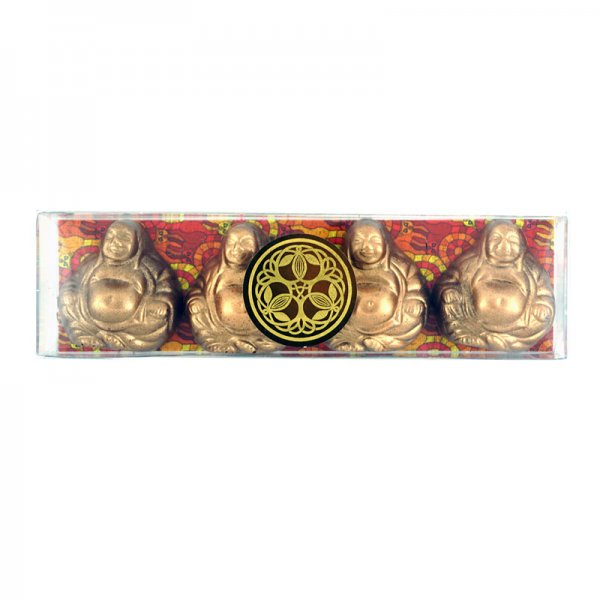 chocolade boeddha bonbons met gember vulling heerlijke pralines bean to bar chocolate tree