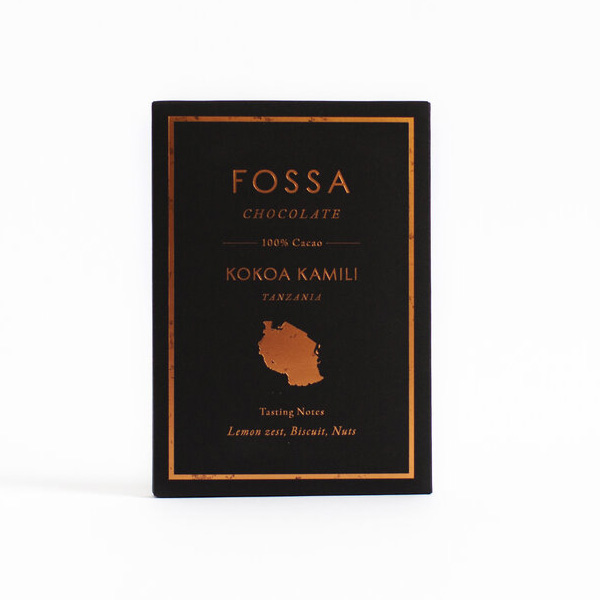 fossa 100% kokoa kamili tanzania puur suikervrij cacao origine afrika