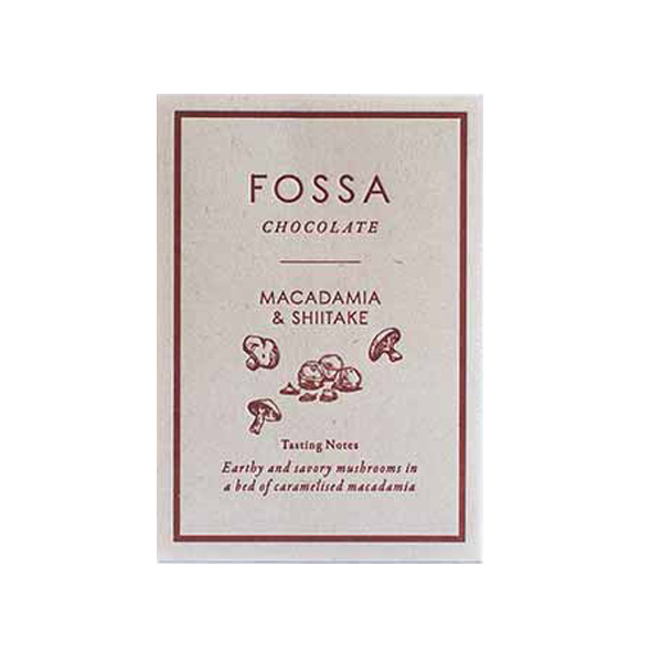 fossa mushrooms shiitake macadamia caramelized chocolate pure singapore bean to bar