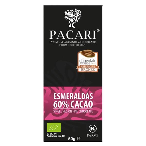 pacari esmeraldas biologische single region chocolade origin puur zoet fruitig