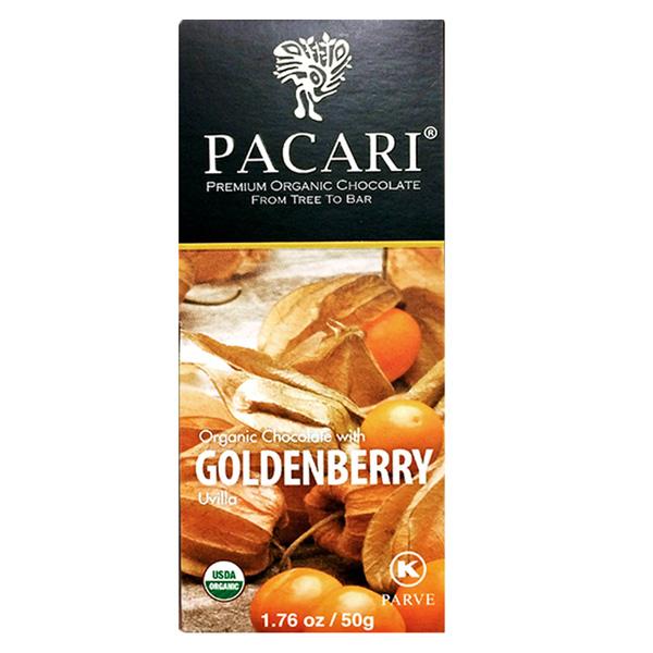 pacari pure biologische chocolade met vrucht goudbes physalis bio