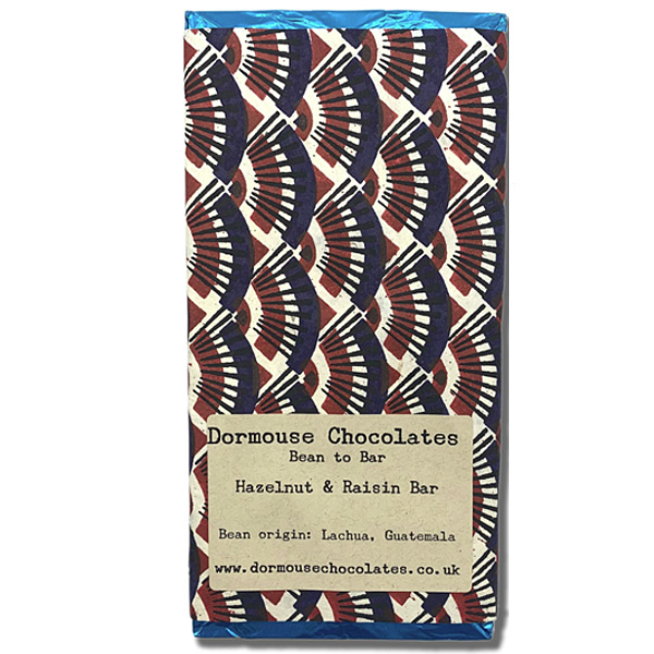 dormouse chocolate with raisins and hazelnuts guatemala bean to bar chocolate