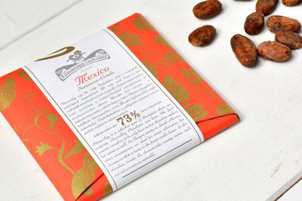 Rózsavölgyi 73% Mexico Soconusco Criollo chocolade hongarije budapest cacaobonen en chocoladereep