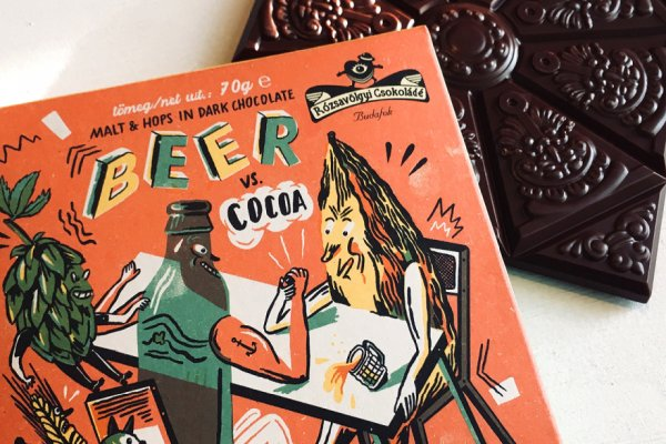 powerful beer chocolate from rozsavolgyi with malt and hop beer candy
