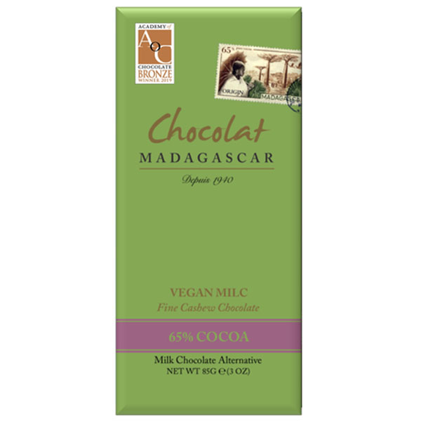 chocolat madagascar vegan cashew donkere melkchocolade