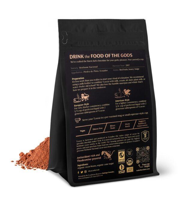 biologisch chocolademelk chocolade toak drink cacao puur nacional ecuador