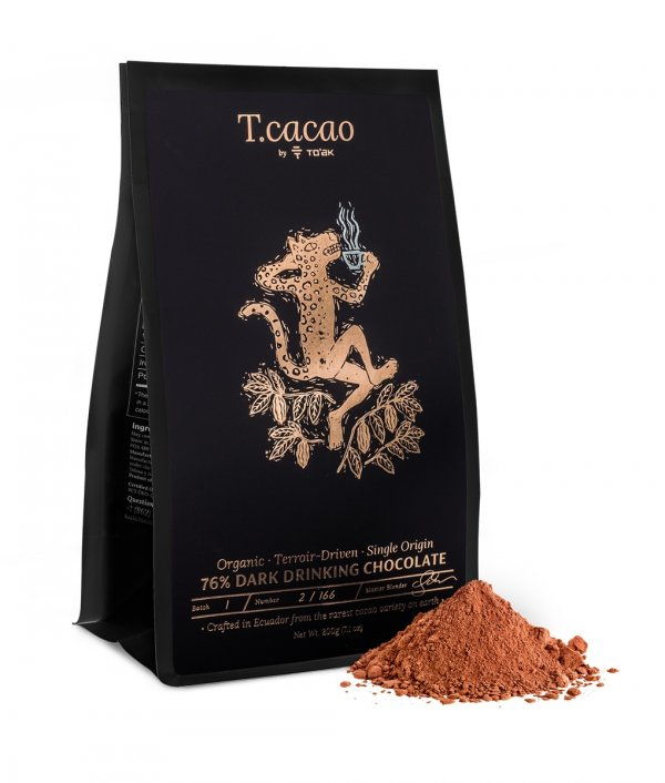 toak cacao pure drink chocolade biologisch single origin tcacao