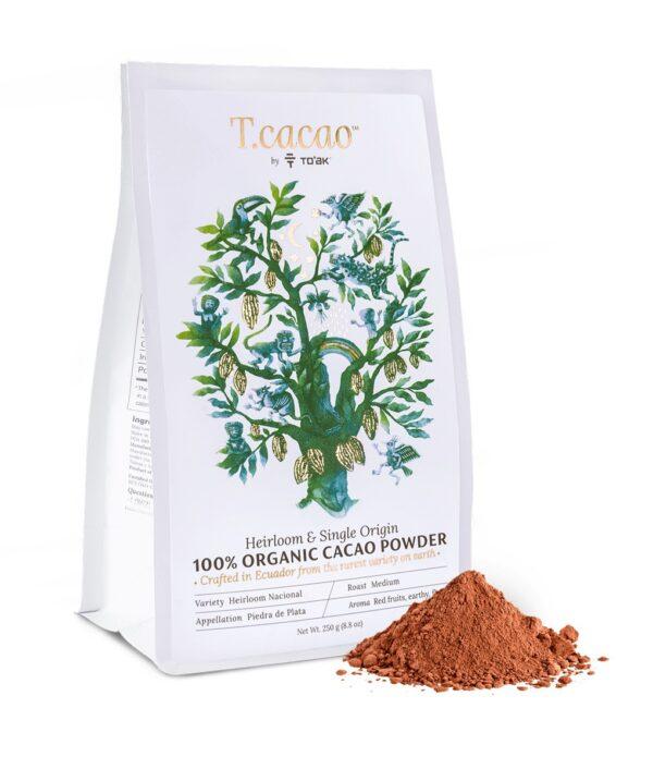 toak tcacao cacaopoeder 100% ecuador nacional chocolademelk single origin