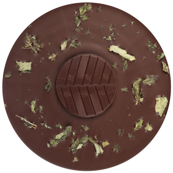 mitzi blue zotter chocolade biologisch pepermunt muntblaadjes