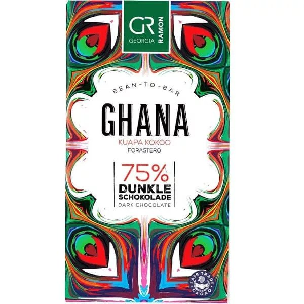 ghana 75% cacao georgia ramon fairtrade puur