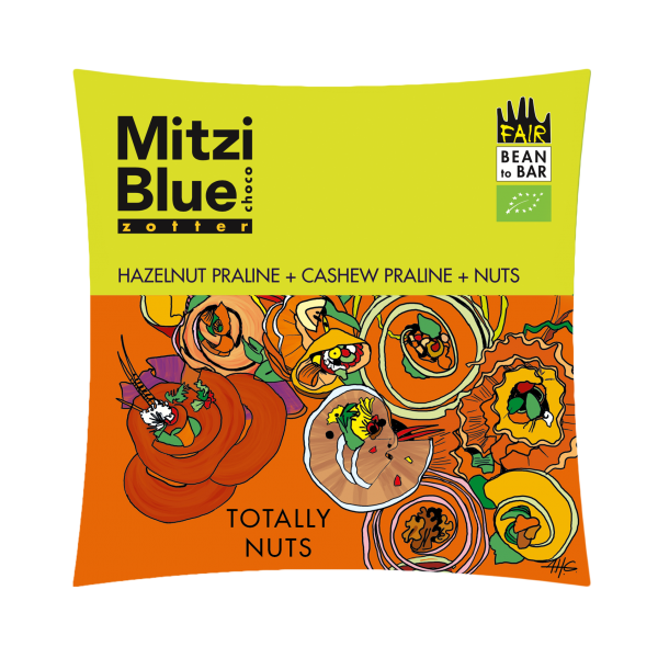 mitzi blue chocolade met cashew hazelnoten walnoten totally nuts zotter