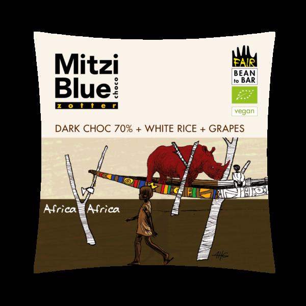 mitzi blue africa rozijnen vegan rijst chocolade madagaskar