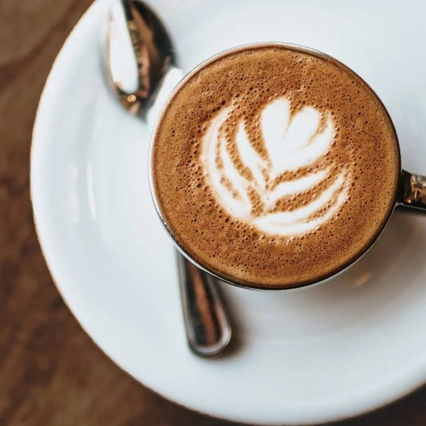 fu wan cocoa powder coffee cappuccino foam cup from above quality cocoa