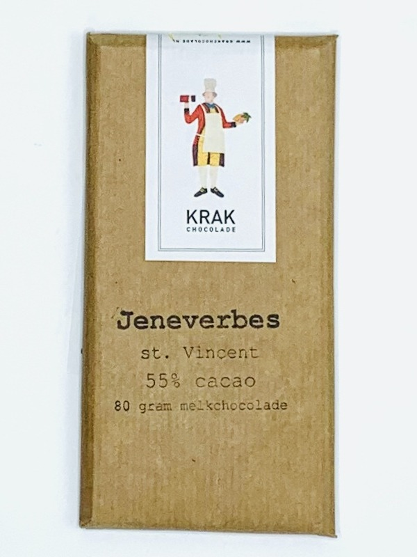 krak juniper berry milk chocolate bar craft chocolate dutch