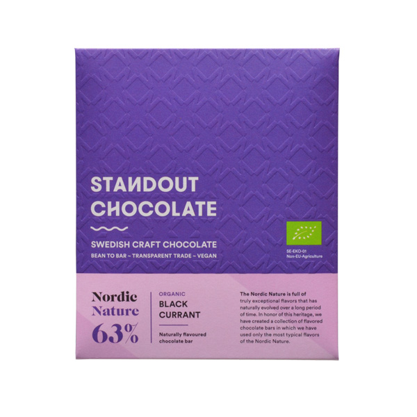 standout chocolate with black currant nordic nature craft chocolate