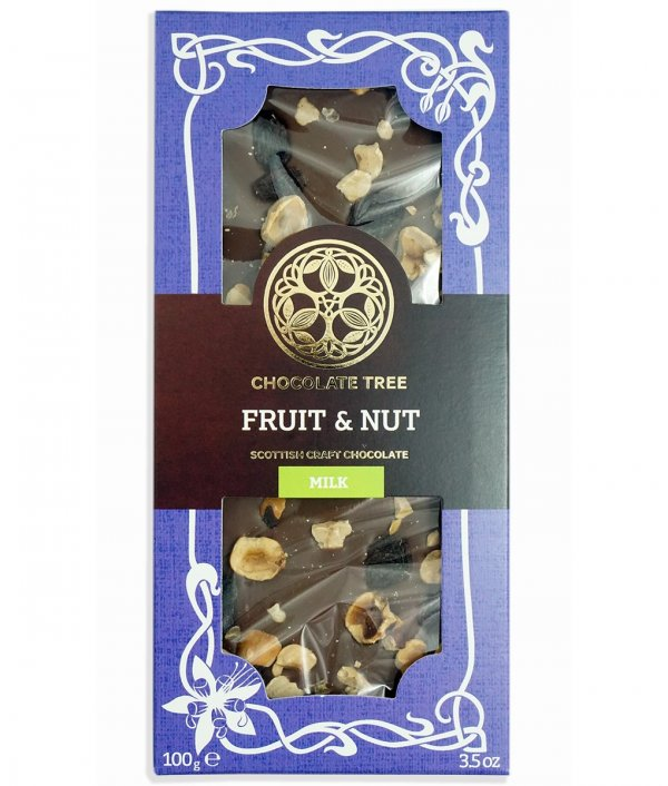chocolate tree hazelnoten en fruit rozijnen biologisch fair direct trade