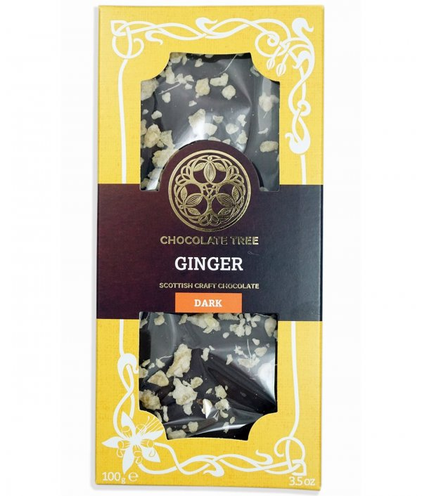 chocolate tree ginger organic bean to bar chocolate