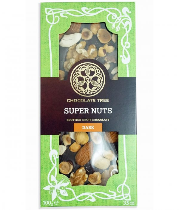 chocolate tree super nuts hazelnuts almond cashew walnuts