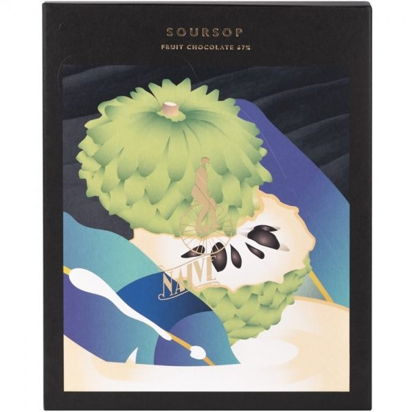 naive soursop chocolate bar package fruit combination