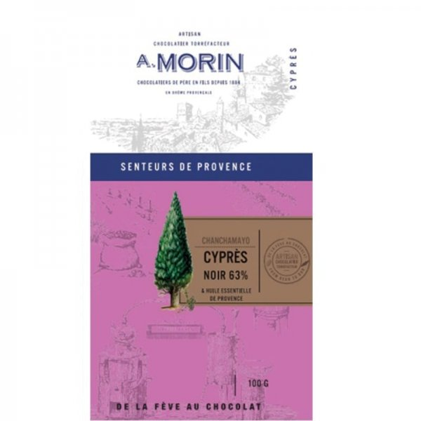 morin dark chocolate with cypress essential oil