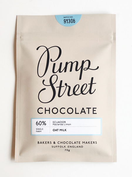 pump street bakery vegan chocolade havermelk oat milk lactosevrij composteerbaar lekker craft chocolate