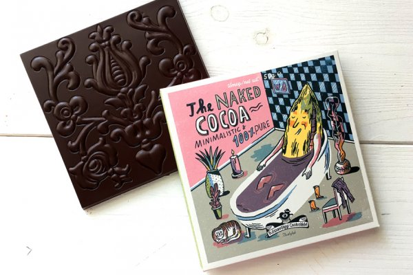 naked cocoa, chocolate without sugar from rozsavolgyi from hungary craft chocolate art