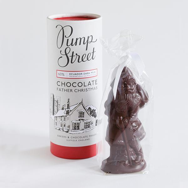 chocolade kerstman pump street bakery origine ecuador kerstmis feestelijk