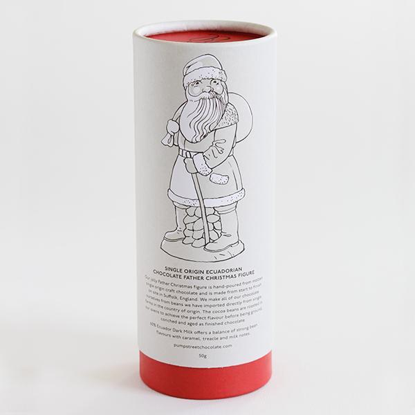 pump street tube met father christmas chocolade een prachtig cadeau voor de kerst
