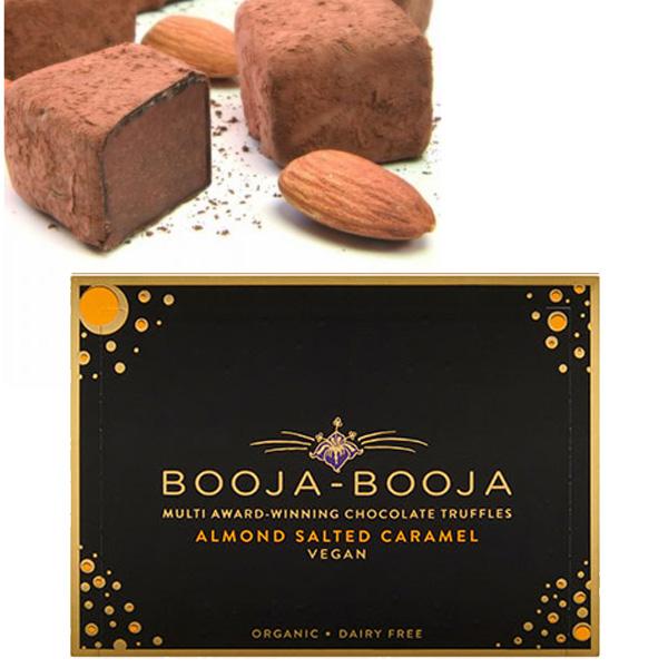 booja booja chocoladetruffels gezouten karamel amandel vegan bio glutenvrij