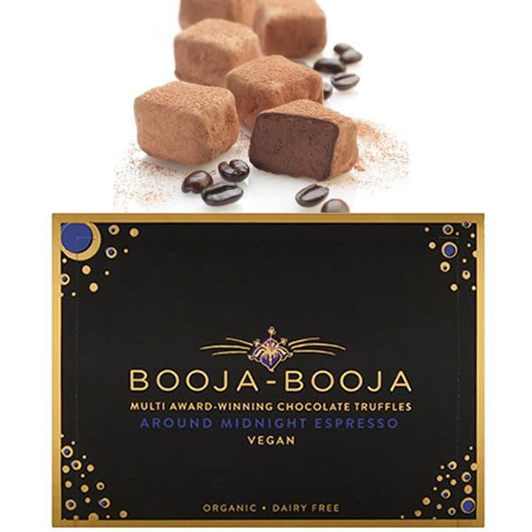 booja booja around midnight espresso chocoladetruffels met koffie bio en vegan