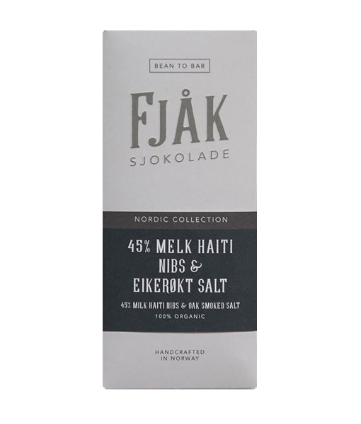fjak milk chocolate with roasted sea salt and cocoa nibs
