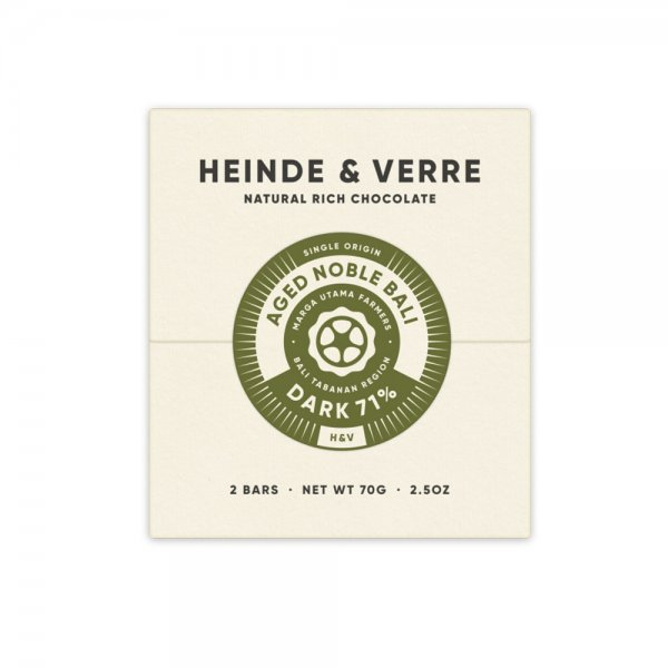 heinde en verre pure chocolate aged noble bali
