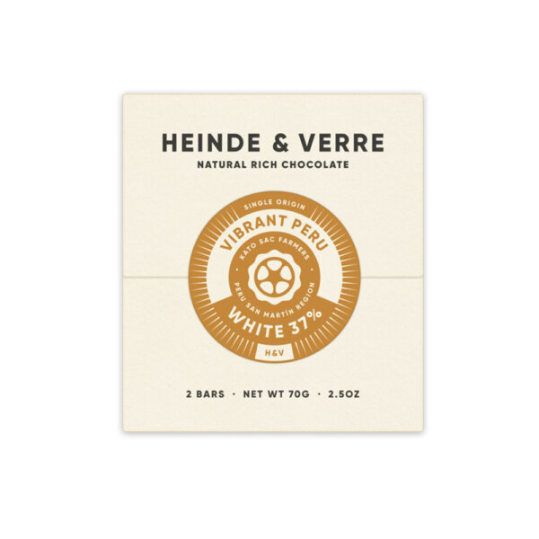 heinde & verre vibrant peru witte chocolade craft bean to bar nederlands