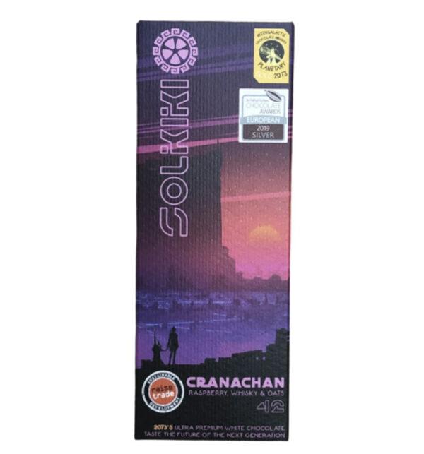 solkiki cranachan framboos whisky oats vegan witte chocolade