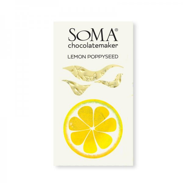 soma white chocolate with lemon and poppy seeds