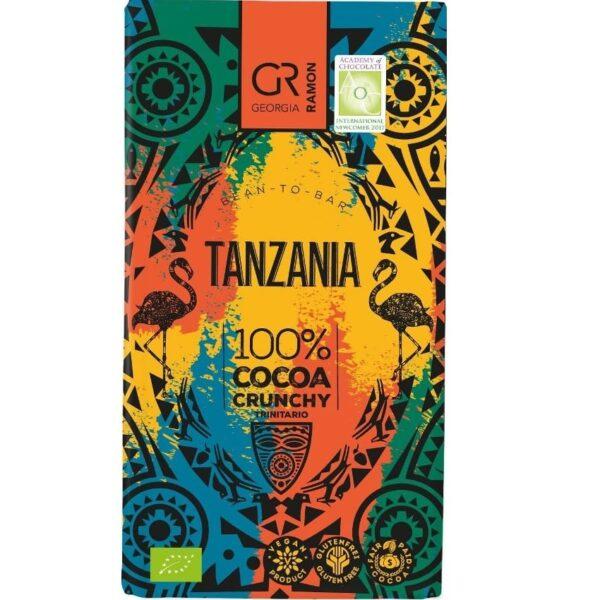 georgia ramon tanzania 100 nibs chocolate bar