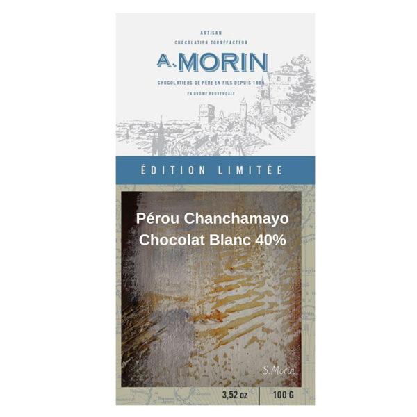 morin white chocolate chanchamayo peru limited award winner