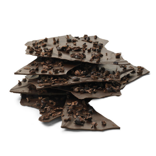 omnom chocolate sails pure thin slices of pure organic chocolate with cocoa nibs