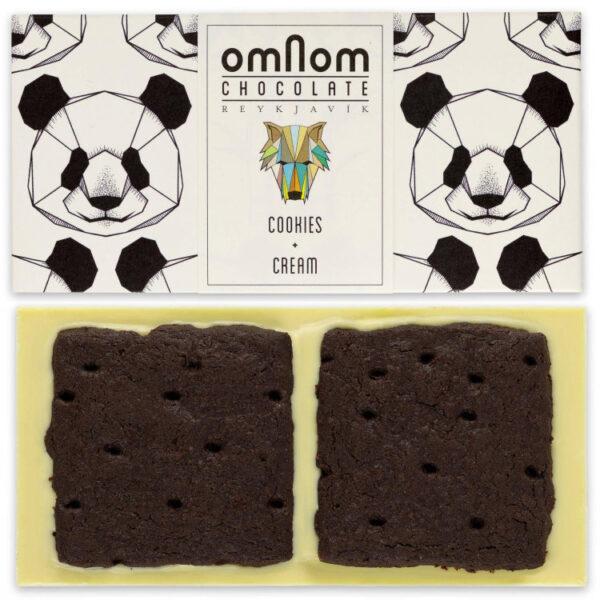 omnom cookies cream white chocolate with dark biscuit tanzania