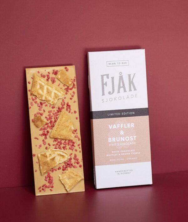 fjak brunost wafels bruine kaas chocolate noorwegen bean to bar craft chocolate