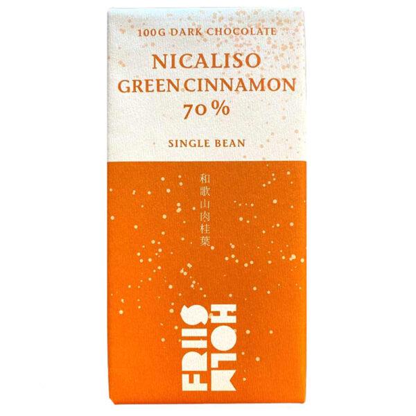 friis holm nicaliso groene kaneel puur japan bean to bar chocolade