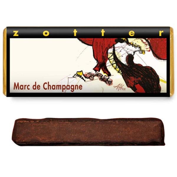 marc de champagne alcohol gevulde chocolade bonbon reep zotter bio fair